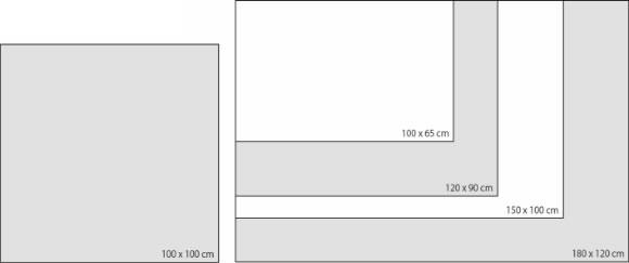Glas-Magnetboard-Formate in der Übersicht