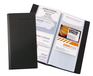 Business card book leather look by sigel card cases reheart Images
